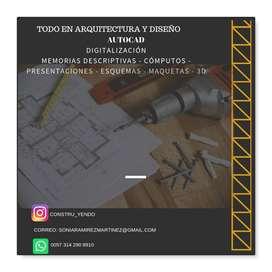 maquetas de toda clase  y planos arquitectónicos , de ingeniería.