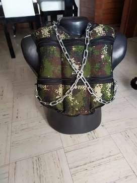 Chaleco de peso  con cadena