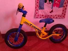 Bicicleta de inicio para niño.