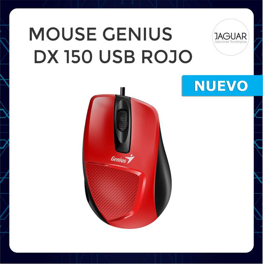 MOUSE GENIUS DX 150 USB ROJO 0