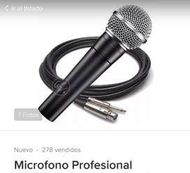 Micrófono Profesional, sin Uso.