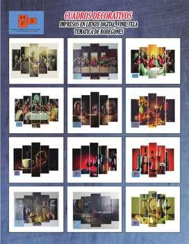 Cuadros decorativos impresos en lienzo digital