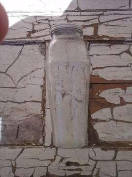 antiguo frasco de toddy con publicidad