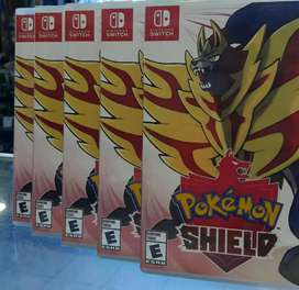 POKEMON SHIELD NINTENDO SWITCH SELLADO STOCK