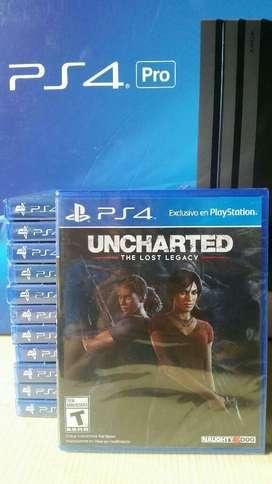Uncharted The Lost Legacy Ps4 Nuevo Sellado Stock