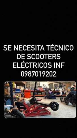 Tecnico de scooters electricos