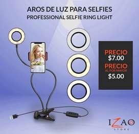 ARO DE LUZ LED CON SOPORTE PARA CELULAR PROFESSIONAL LIVE STREAM