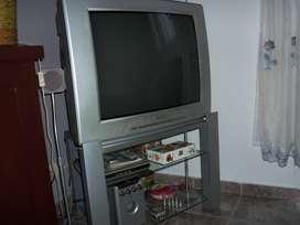 """TV  29"""" Philips TRC con control remoto y mesa original"""