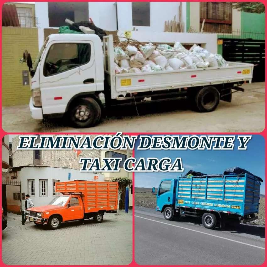 TAXI CARGA // MUDANZAS Y FLETES // TRANSPORTES // ELIMINACIÓN DE DESMONTE & BOTAMOS DESUSOS INSERVIBLES
