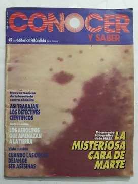Revista Conocer Y Saber Numero 8, cara en marte