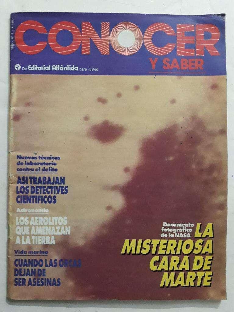 Revista Conocer Y Saber Numero 8, cara en marte 0