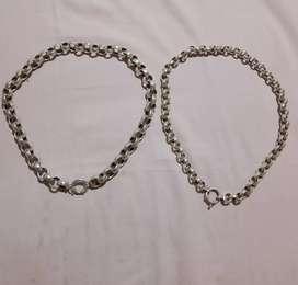 Cadenas y anillos de plata