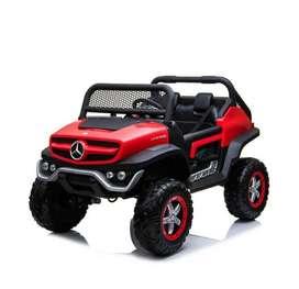 Coche Automovil Electrico Auténtico Mercedes Benz Unimog Red Rojo