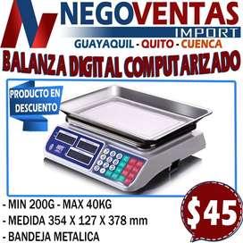BALANZA DIGITAL COMPUTARIZADA EXCLUSIVAMENTE EN DESCUENTO SOLO EN NEGOVENTAS