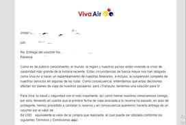 VOUCHER DE VIVA AIR