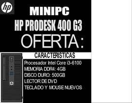 mini CPU EMPRESARIAL HP PRODESK 400G3