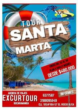 Tour santa Marta en Enero salida de Bucaramanga