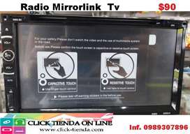 Radio Pantalla Doble din MirrorLink Tv  Cd DVD