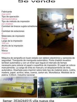 maquina de serigrafia semiautomatico