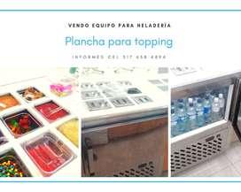 Plancha de refrigeración para topping