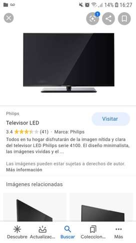 Vendo televisor led philip