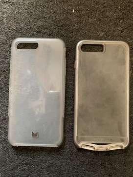 2 Fundas protectores del Iphone 7 plus usadas