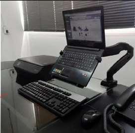 Soportes flexigas para laptop o monitor de escritorio brazo ergonómico
