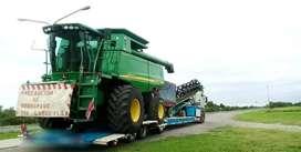 Transporte de cargas con camión carretón