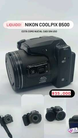 Camara Nikon b500 - semireflex como nueva