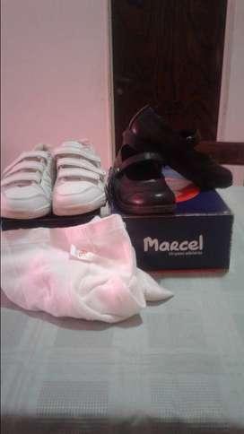 zapatos +cancan+zapatillas número 32.