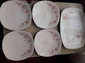 Set bandeja + platos