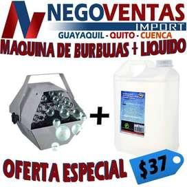MAQUINA DE BURBUJAS + LIQUIDO EN GALON