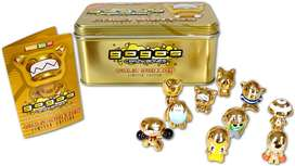 Gogos Crazy Bones Collector 10 Pack Gold Tin Gold Series Limited Edition. Série D'or. Série Limitée Marca Magic Box Int.