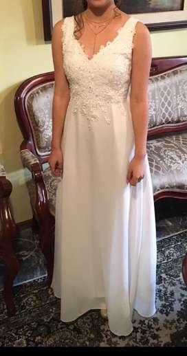 Vestido blanco de graduación o de novia