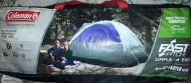 Carpa tipo domo para campamento