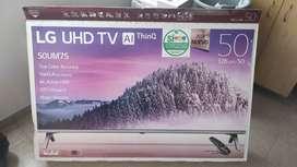TV LG 50 Pulgadas 126 cm 50UM7500 4K-UHD LED Plano Smart TV