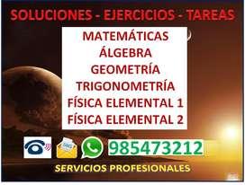 PROFESOR PARTICULAR DE MATEMATICA Y FISICA CHICLAYO