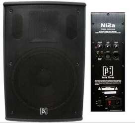 2 Cabinas Beta 3 N12a Activas + 2 Tripode Audio Pro.