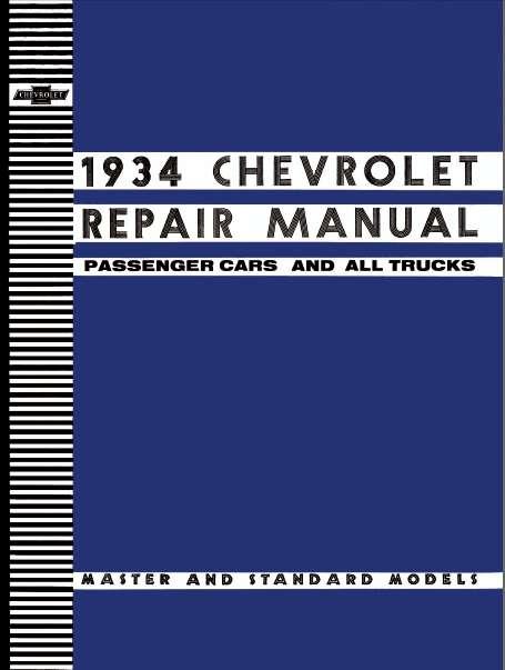 CHEVROLET 1934 MANUAL DE REPARACION 0
