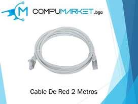 Cable de red 2 metros nuevo y facturado
