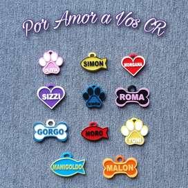 Placas personalizadas para gatos y perros
