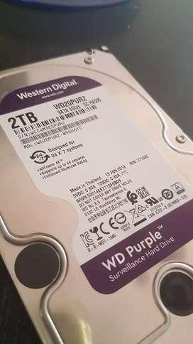 Disco rigido wd purple 2tb con garantia