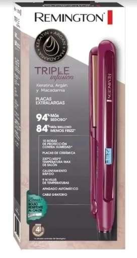 Plancha Remington Triple Infusión Keratina Argan Y Macadamia Ref.  S7740