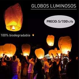 Globos luminosos - antorchas voladoras