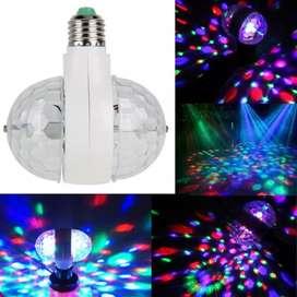 Foco de luces de colores led giratorio
