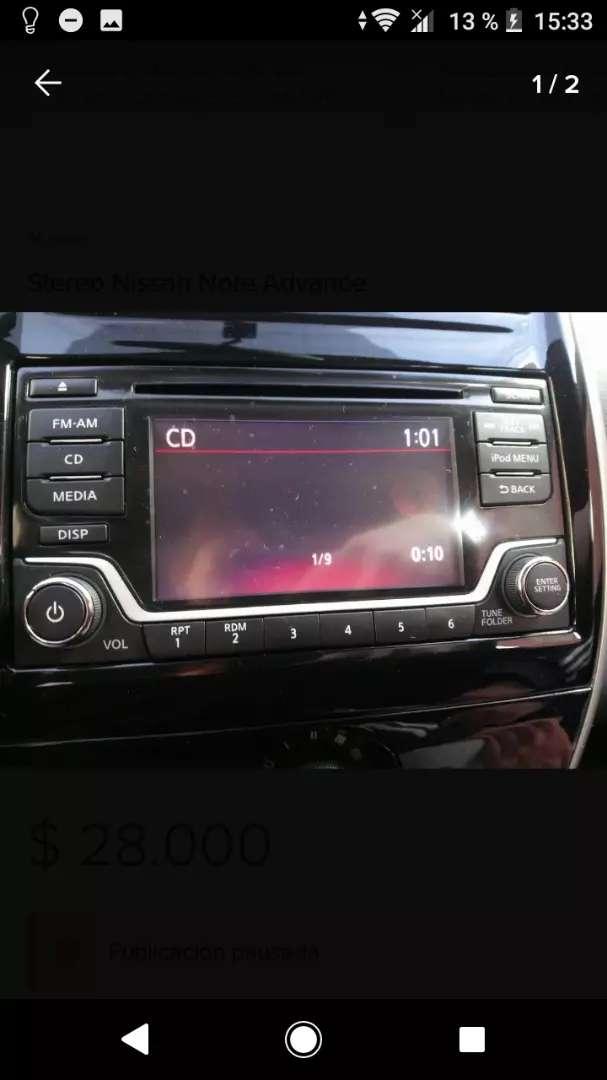 Estéreo nissan note exclusive con parlantes y cámara 0