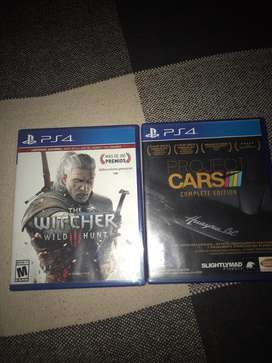 Project cars  y the witcher wild hunt