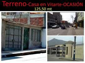 Vendo TERRENO 125.50 m2 con una casa provisional en VITARTE (Asociación Monterrey) San Gregorio