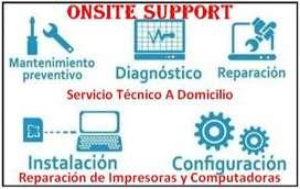Reparacion de impresoras y computadoras a Domicilio
