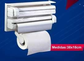 Dispensador de papel y fundas